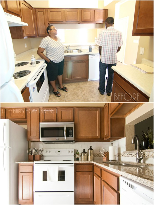 'Before & after' of my townhome kitchen. | The Happy Home Therapist