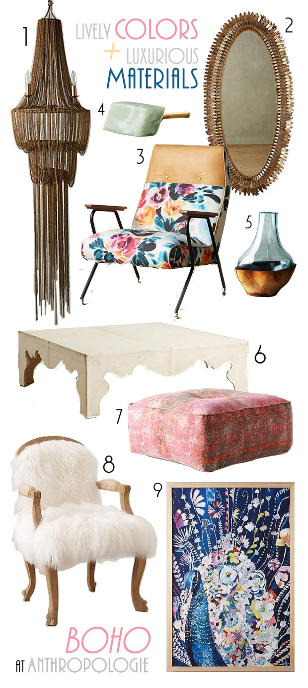 Boho home goods at Anthropologie. | The Happy Home Therapist