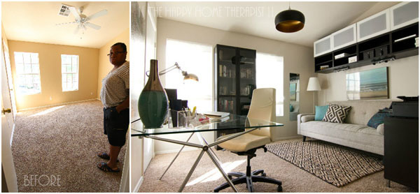 the before and after of my modern home office renovation the happy