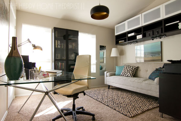 My modern home office renovation.   The Happy Home Therapist