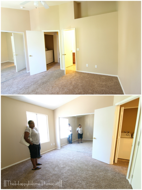 """The """"before"""" view of my townhome bedroom transformation. 