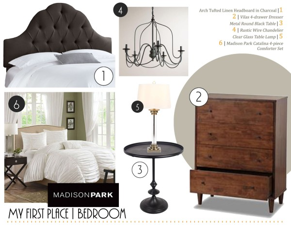 Concept board for my bedroom in my first home. | The Happy Home Therapist
