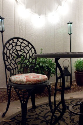 Night shot from my patio makeover. | The Happy Home Therapist